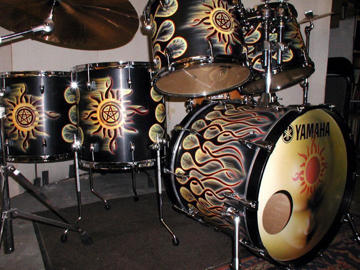 Custom Flame Drums