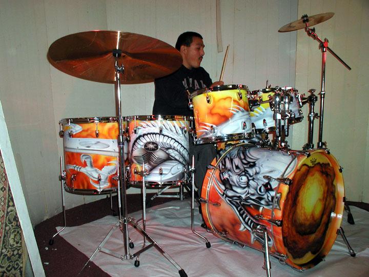 Custom Dragon Drums